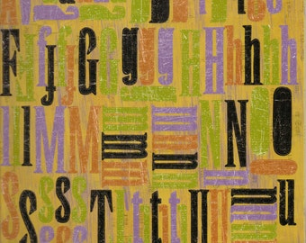 Rusty Pickle HALLOWEEN Alphabet Stickers