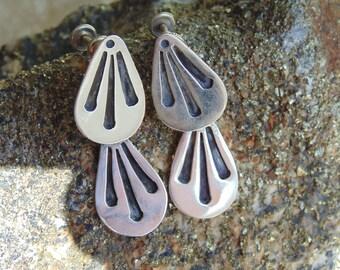 Victor Jaimez ~ Mexican Sterling Silver Screw Back Earrings