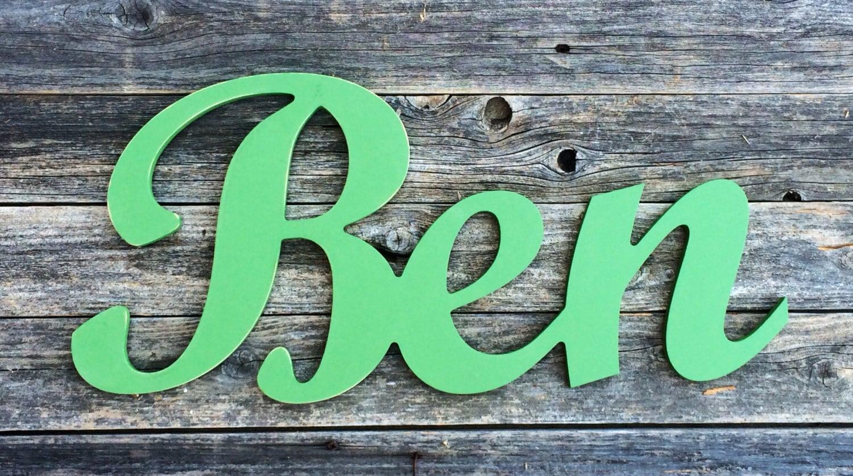 Wooden Letters For Nursery Ben In Script Custom Name