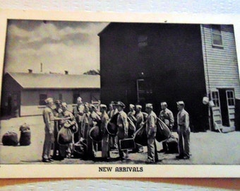 """WWII RPPC """"New Arrivals"""" Camp Lee, VA in Excellent Condition"""