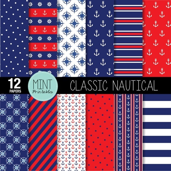 nautical digital paper anchor scrapbooking paper anchors