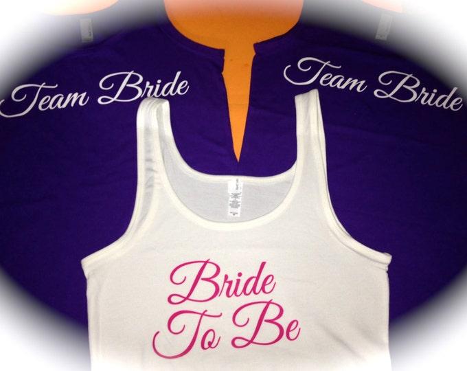 Set of 7 bridesmaid tank tops . long bridesmaid shirts . Bride tank . Purple bridesmaid tanks . bridesmaid t-shirts . Wedding party Tees .