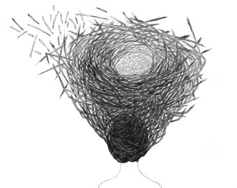 Nest, Archival print of my original pen and ink drawing