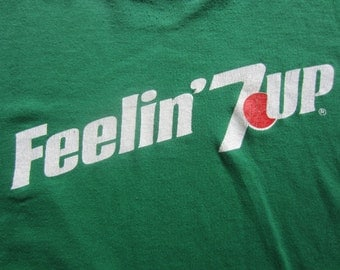 Vintage Feelin 7up T shirt Green Tee
