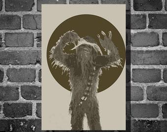 Star Wars Chewpac movie poster minimalist poster star wars art Chewbacca