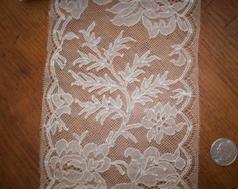 """1 yd. of an Antique  wide lace 5 1/2 """" wide beautiful pattern"""