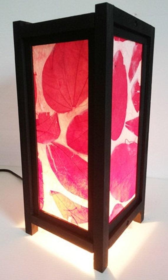 Kunst rote bl tter dekor stil nachttisch lampenschirme for Nachttisch lampenschirme