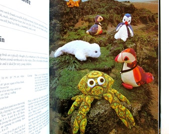 Vintage soft toy making book, Pamela Peakes Creative Soft Toy Making hardback, 1970's toys