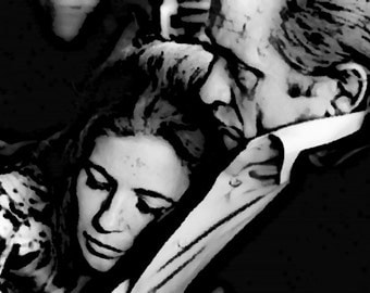 Johnny Cash & June Carter Art Print