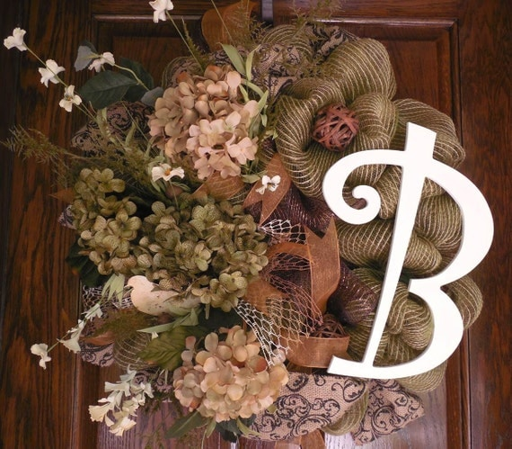 initial wreath year round wreath all season wreath deco