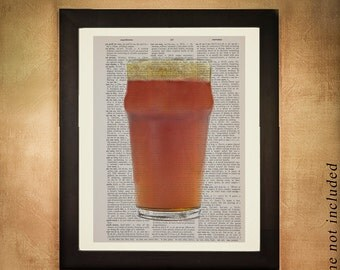 Beer Dictionary Art Print Microbrew Micro Brew Brewing Food Art Kitchen Art Wall Gift Ideas Alcohol da183