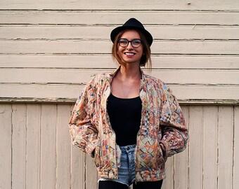 Vintage 70s 80s Cream Jacket / Warm Outwear