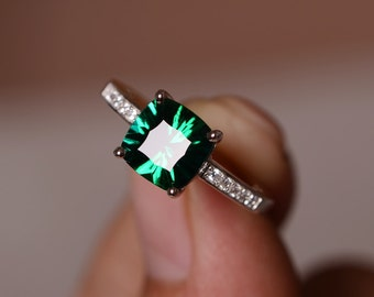 Gemstone engagement ring Etsy