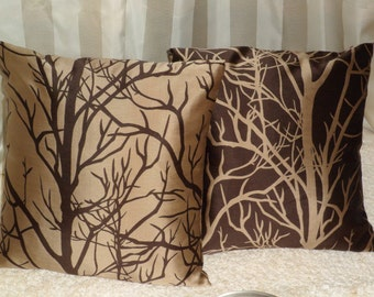 18x18 inch Brown & Natural Color Pillow Covers, Decorative Pillows, Throw Pillow, Toss Pillow, Home Furnishing, Home Decor