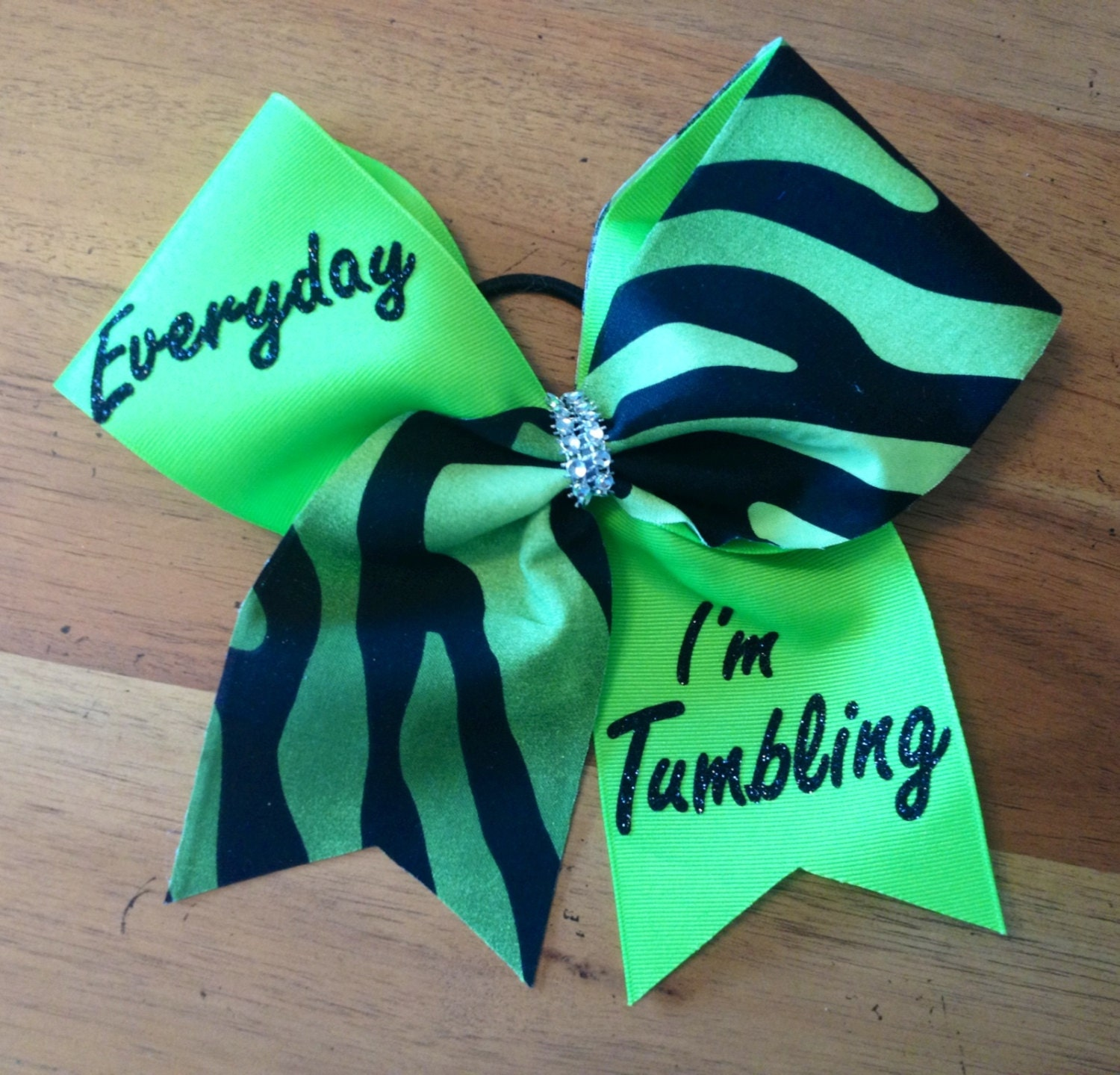 Cheer bow cheerbows every day I'm tumbling cheer bow