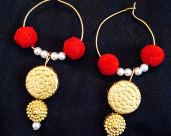 Ethnic Colorful Neck Piece & Earring set
