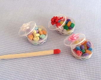 """Dollhouse miniature candy """"drops"""" for dolls"""