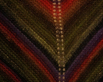 Gorgeous Bright Scarf or Shawl, Wooly and Warm