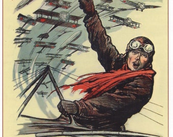 """Propaganda posters / Poster «Build up the Air Fleet of the U.S.S.R. All become the """"Dobroliot"""" (""""Fly well"""") shareholders!» 1923 #36907"""