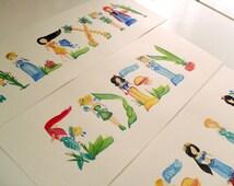 Custom Disney inspired Princess Name Painting/ Disney Art  [One of a Kind]