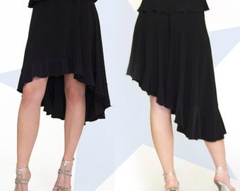 High Low Ruffle  Skirt