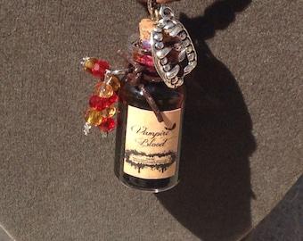 Vampire blood potion bottle charm