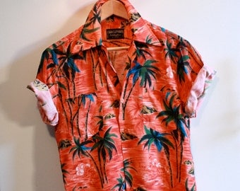 Vintage Men's Tropical Shirt ~ Small to Medium