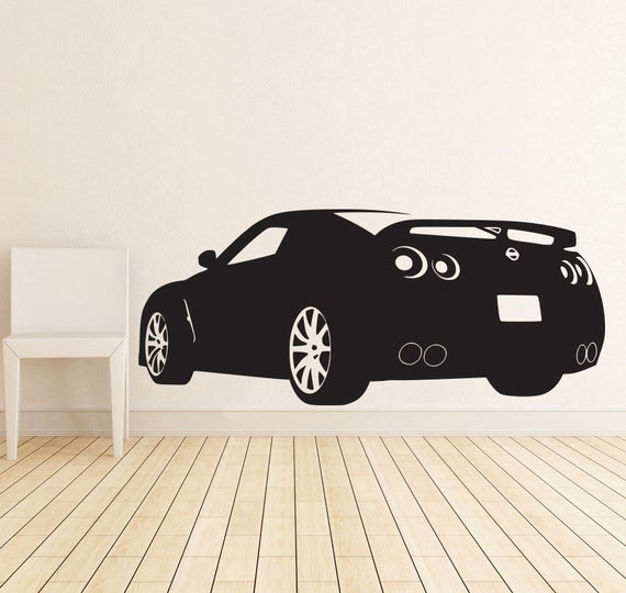 Race Sports Car Wall Decal Decor Sticker Art By