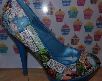 Comic Book high heel shoes