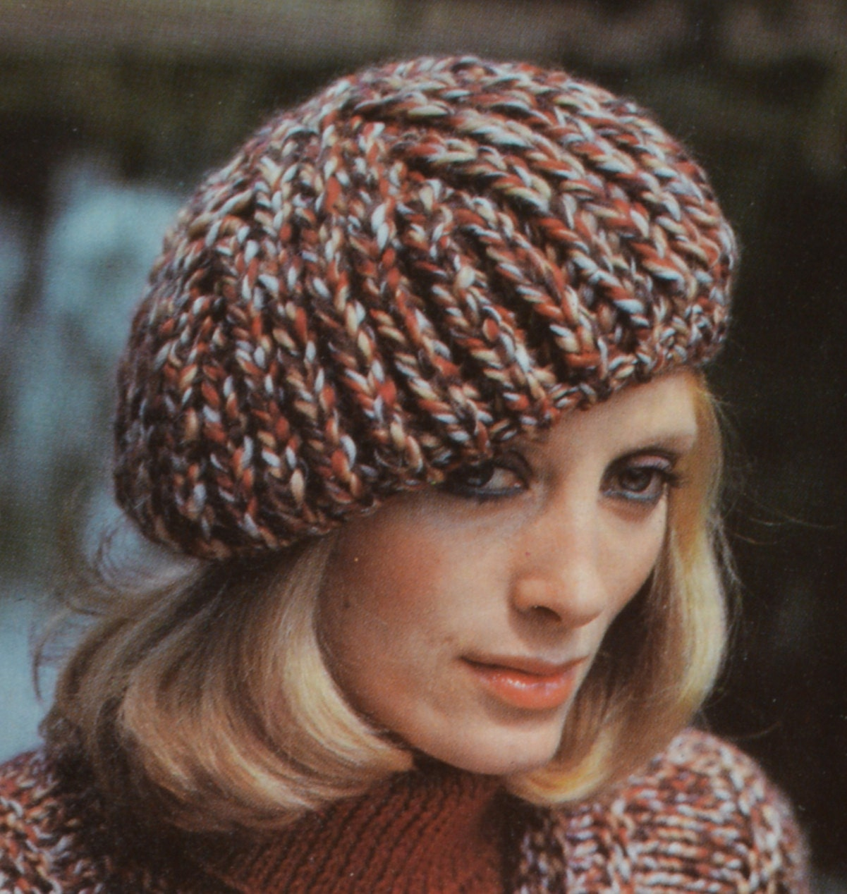 Knitting Pattern Vintage Hat : PDF womens hats vintage knitting pattern beret peaked hat