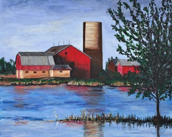 Red Barn Giclee Print