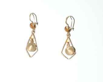 Antique 14K Gold Dangle Earrings 5478