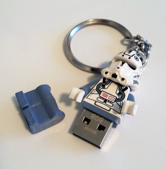 lego star wars usb clone pilot minifig keychain by. Black Bedroom Furniture Sets. Home Design Ideas