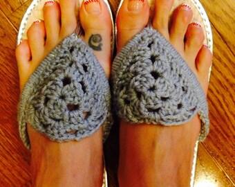 Adult Embellished Flip Flops