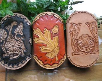 Cowhide Leather Key Holder, Card Holder, Key case