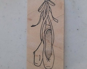 Ballerina Slippers Rubber Stamp - 95M05