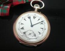 Antique Silver  Zenith Turkish Market Pocket Watch, Manual Wind, Mechanical, Wind Up,  800 Grade Silver, Turkey, REF:216N
