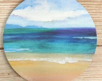 Mouse Pad mousepad Ocean, Fine Art Original Watercolor,Sea Life