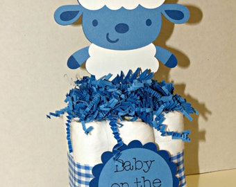 Lamb Mini Diaper Cake Centerpieces for baby shower or gift