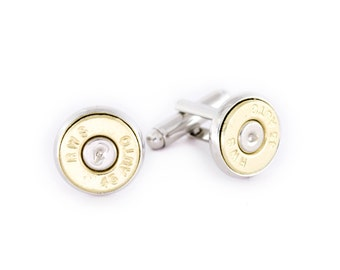 45 Caliber Bullet Cufflinks. Grooms Gift. Groom Cuff Links. Groom Cufflinks.