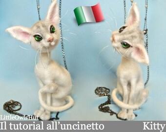 093IT Il tutorial all'uncinetto Kitty il mistero micioso. Amigurumi Toy - PDF Di Pertseva Etsy