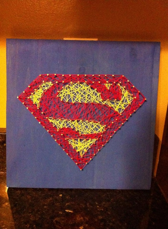 Superman String Art Wall Decor Kids Room Or By