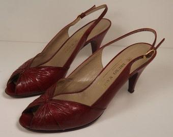 VINTAGE BRUNO MAGLI Sling Back Open Toe Shoes