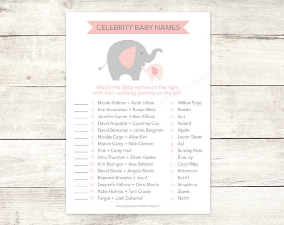 Eloquent image throughout celebrity baby name game printable