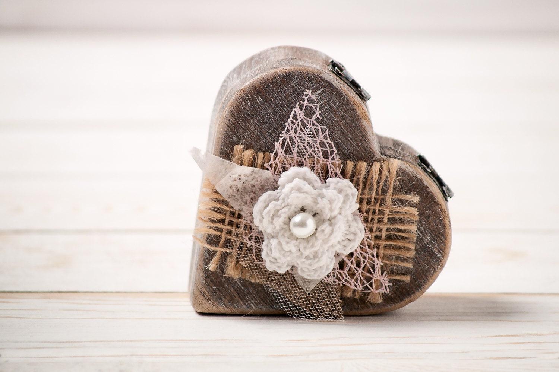 rustic wedding ring pillow bearer box by inesesweddinggallery