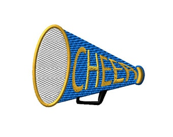 Cheer Megaphone Machine Embroidery Design