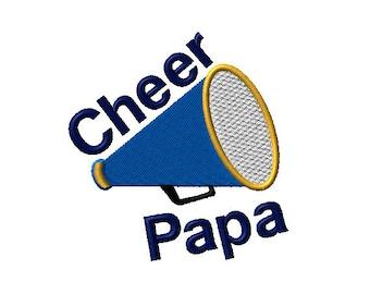 Cheer Papa Megaphone Machine Embroidery Design - 2 sizes