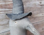 Primitive Halloween Crow Witch doll, OFG, FAAP