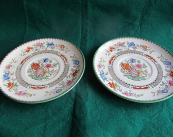 A Pair of Copeland Spode 'Chinese Rose' Bone China Plates