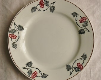 FORMER French earthenware plate